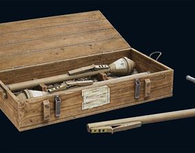 Panzerfaust and box 3D asset