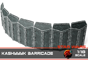 3D print model Kashyyyk barricade 1-18 scale