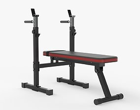 3D Adjustable weight bench station