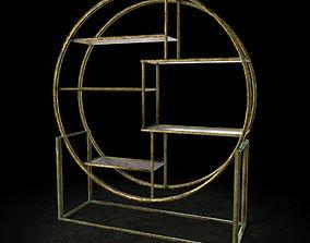 3D Art Deco Style Shelf Unit
