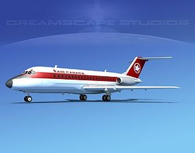 3D model Douglas DC-9-15 Air Canada