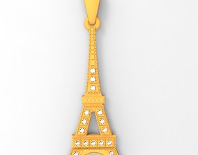 Eiffel tower 3D print model jewelry