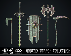 Undead Weapon Collection 3D model