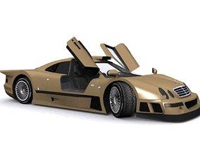 Mercedes-Benz CLK-GT 3D model