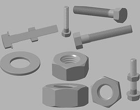 Bolt Nut Spacer 3D printable model