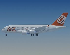 Gol Airlines Airbus A380 3D model