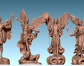 3D printable model The Four Archangels - CNC Rounting - 5