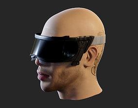 Futuristic cyberpunk goggles - head not included 3D model