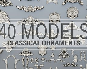3D printable model 40 classical baroque ornaments
