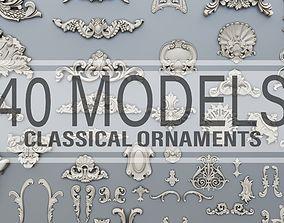 3D printable model 40 classical baroque ornaments