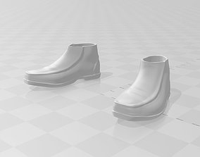 3D print model leather shoes for 6-12 inch figures