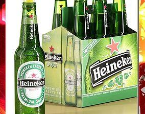 3D model Heineken Six Cardboard pack