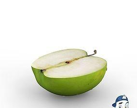 3D Green Apple Half