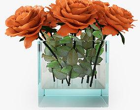 3D Rose orange
