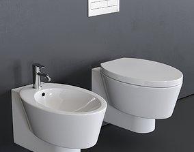3D model Scarabeo Ceramiche Wish Wall-Hung WC