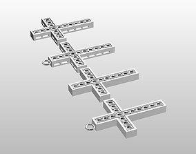 3D printable model Christ cross pendan with zirconia