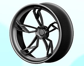 3D asset Exclusive sports car wheel