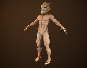 Attack On Titans - Jaw Rigged model rigged