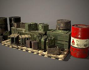 Crates and Barrels 3D model
