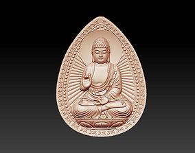 bas-relief of buddha pendant 3D print model