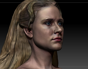 2 models Westworld Dolores Abernathy Evan Rachel Wood 3D