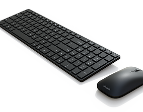 3D model Microsoft Designer Keyboard and Mouse