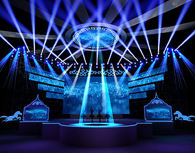 Stage design 3dmodel Annual Party