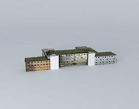 3D model Old hospitalStar nemocnica