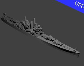 US St Louis Class Cruiser Warship 3D print model