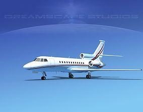 3D model Dassault Falcon 900 V10