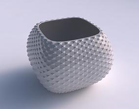 Bowl semi-quadratic with grid piramides 3D print model