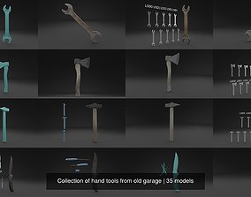 3D Collection of hand tools from old garage