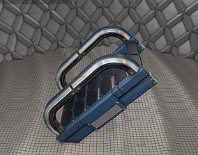 3D model Sci-Fi Stairs - 11 - Blue Version