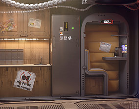 3D sci fi shatle rooms and textures