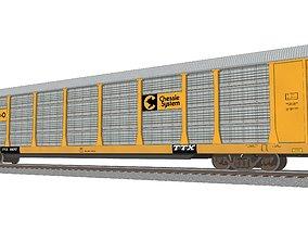 Train Car - Car Carrier - Chessie System 3D