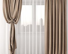 architectural drapes Curtain 3D model