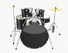 3D model Acoustic drum set