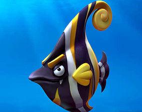3D asset Cartoon Fish14