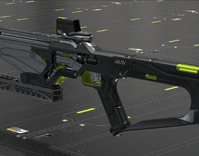 3D Concept Sci fi rifle