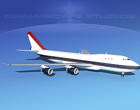 Boeing 747-100 Corporate 3 3D