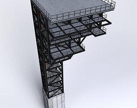 3D Rocket launch complex platform