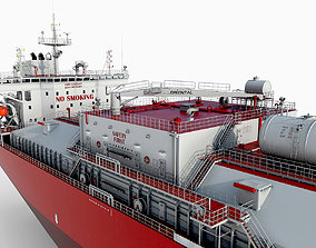 Tanker Red 3D model