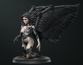 Alita Battle angel statue 3D printable model