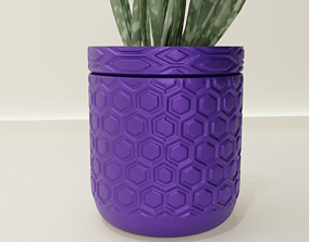 3D print model Self-Watering Planter hexagon 59