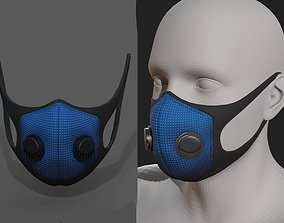 Gas mask protection futuristic fantasy isolated 3D asset