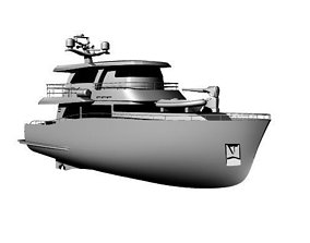 Millenial 68 - 70ft luxury Motor Yacht 3D model