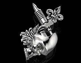 3D print model Tattoo Machine with a Skull