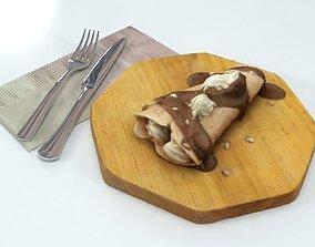 3D model Pancake Chocolate Crepe