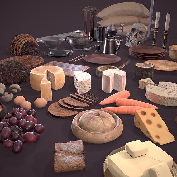 Medieval Dinner Scene