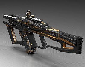 3D Sci fi laser rifle